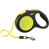 Flexi New Neon Retractable Tape Dog Leash, Small, 16-ft