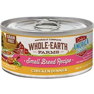 Whole Earth Farms Grain-Free Small Breed Recipe Chicken Dinner Canned Dog Food, 3.2-oz, case of 24
