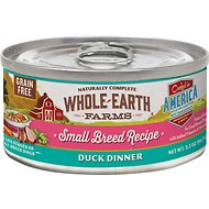 Whole Earth Farms Grain-Free Small Breed Recipe Duck Dinner Canned Dog Food, 3.2-oz, case of 24