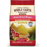 Whole Earth Farms Small Breed Recipe Pork, Beef & Lamb Grain-Free Dry Dog Food, 4-lb bag