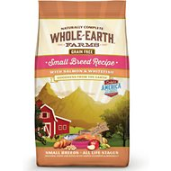 Whole Earth Farms Small Breed Recipe Salmon & Whitefish Grain-Free Dry Dog Food, 4-lb bag