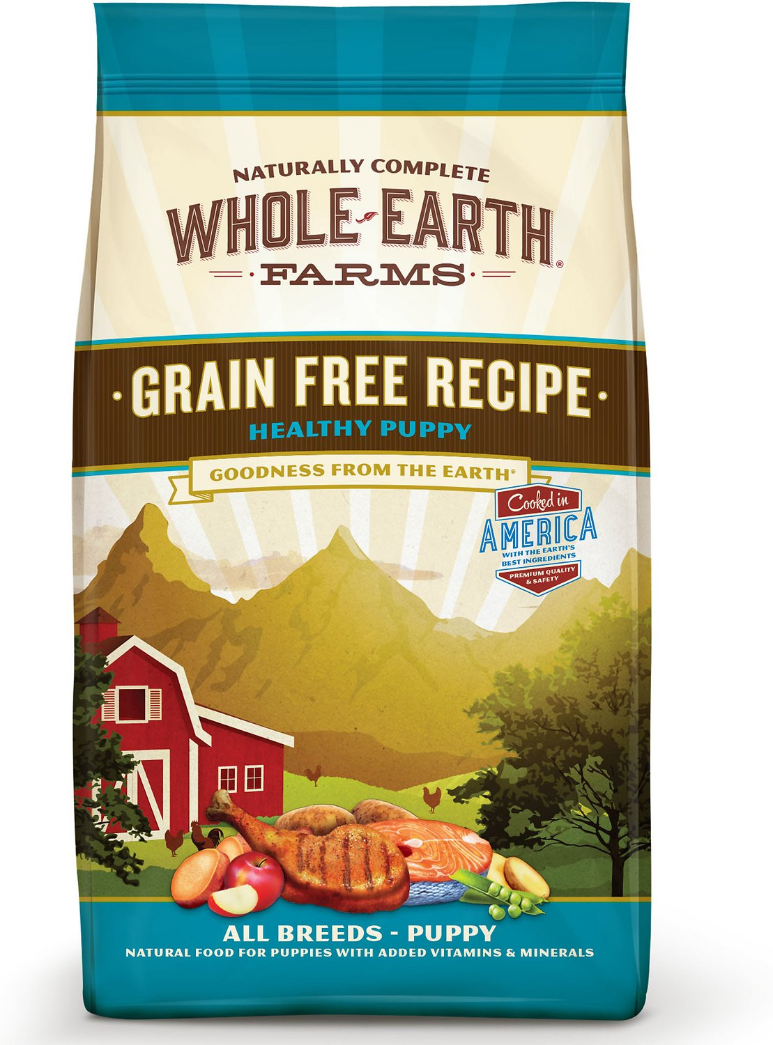 Whole earth farms healthy puppy recipe grain free dry dog food 25 video forumfinder Choice Image
