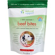 Natural Rapport Freeze Dried Beef Bites Dog Treats, 8-oz bag