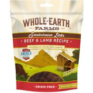 Whole Earth Farms Beef & Lamb Links Grain-Free Dog Treats, 5-oz bag