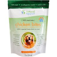 Natural Rapport Freeze Dried Chicken Bites Dog Treats, 8-oz bag