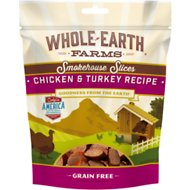 Whole Earth Farms Chicken & Turkey Slices Grain-Free Dog Treats, 5-oz bag