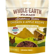 Whole Earth Farms Chicken & Apple Tenders Grain-Free Dog Treats, 5-oz bag
