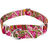 Country Brook Design Paisley Martingale Dog Collar, Pink, Medium