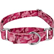 Country Brook Design Bone Camo Martingale Dog Collar, Pink, Large