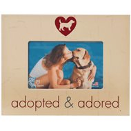 "Dog Speak ""Adopted & Adored"" Dog Picture Frame, 4 x 6 in"