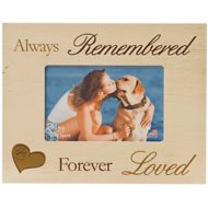 "Dog Speak ""Always Remembered, Forever Loved"" Dog, Cat, & Pet Picture Frame, 4 x 6 inches"