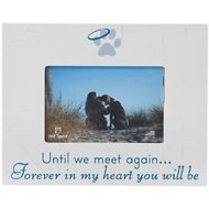 "Dog Speak ""Until we meet again, forever in my heart you will be"" Dog, Cat, & Pet Picture Frame, 4 x 6 inches"