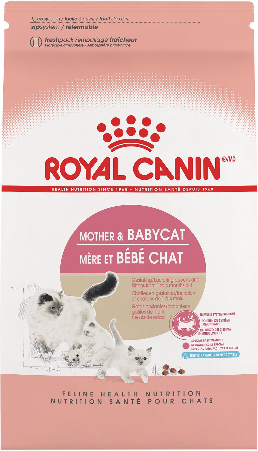 Royal Canin Mother Babycat Dry Cat Food For Newborn Kittens Pregnant Nursing Cats 7 Lb Bag Chewy Com