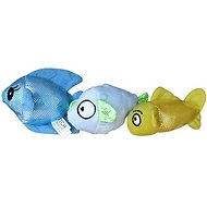 Fetch Pet Products Ocean Buddies Fish Dog Toys, 3 count