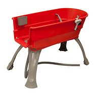 Booster Bath Elevated Dog Bathing and Grooming Center, Medium, Red