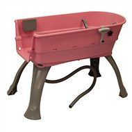 Booster Bath Elevated Dog Bathing and Grooming Center, Large, Pink