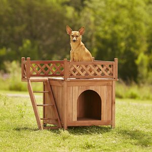 Merry Products Room with a View Wood Dog & Cat House
