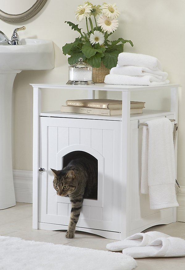 Hidden Litter Box Litter Box Enclosures Chewy