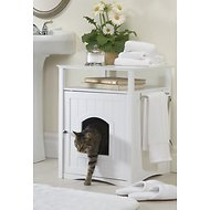 Merry Products Washroom Night Stand Multifunctional Litter Pan Cover, White