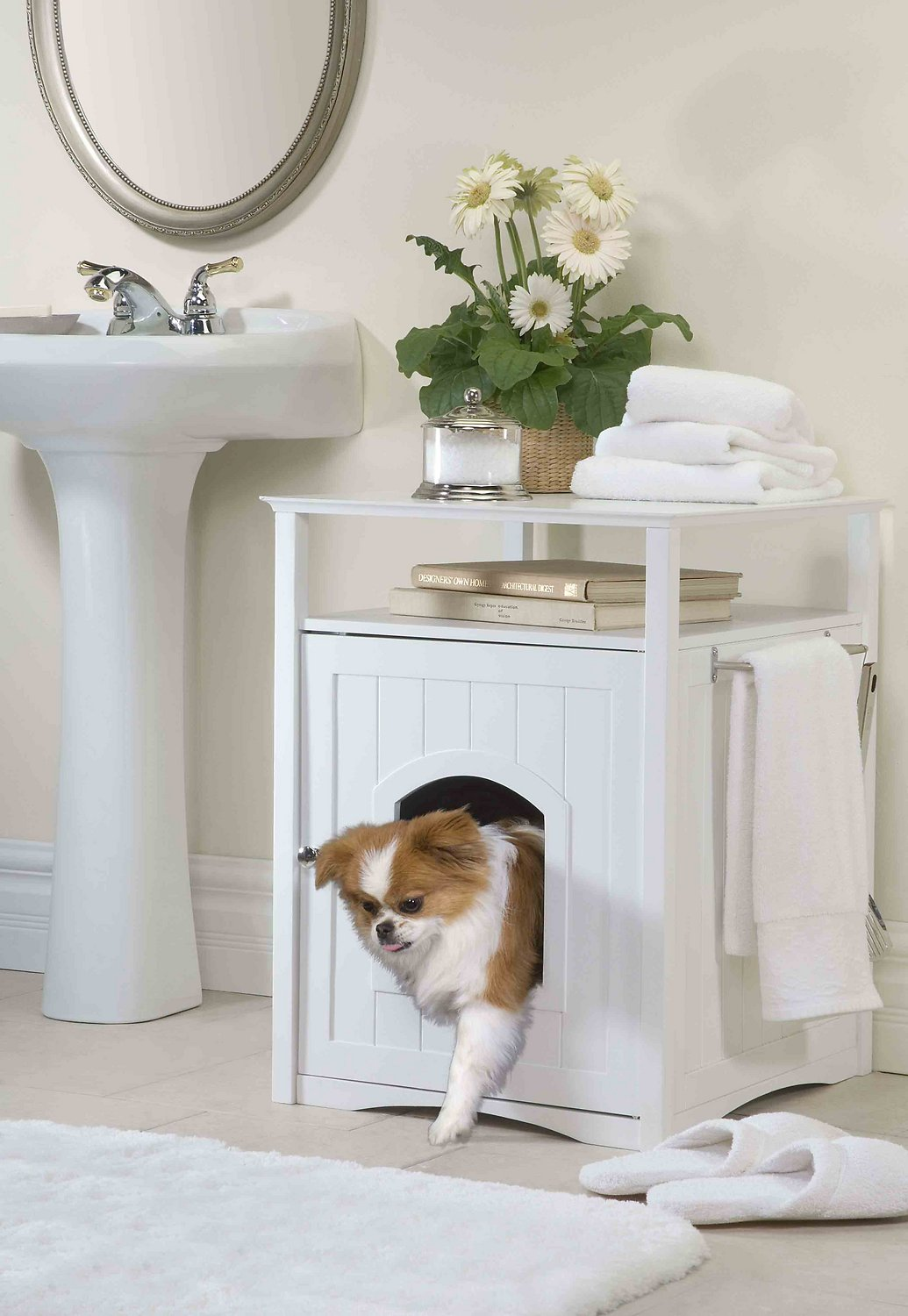 Merry products washroom night stand multifunctional litter for Washroom photo
