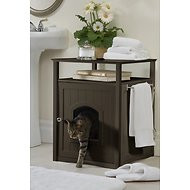 Merry Products Washroom Night Stand Multifunctional Litter Pan Cover, Espresso