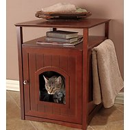 Merry Products Washroom Night Stand Multifunctional Litter Pan Cover, Walnut