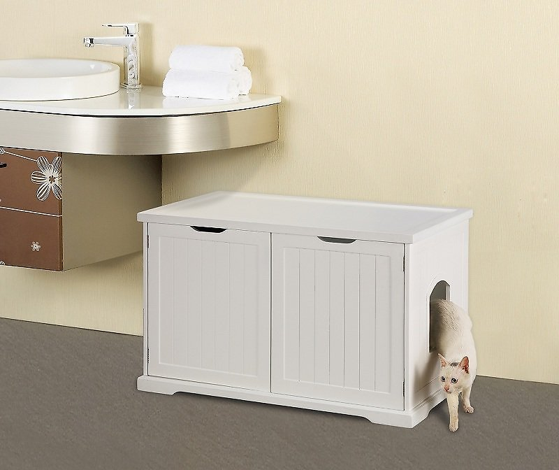 Washroom Products: Merry Products Cat Washroom Bench Decorative Litter Box