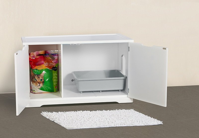 Merry Products Cat Washroom Bench Decorative Litter Box