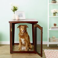 Merry Products 2-in-1 Configurable Dog & Cat Crate & Gate, Large