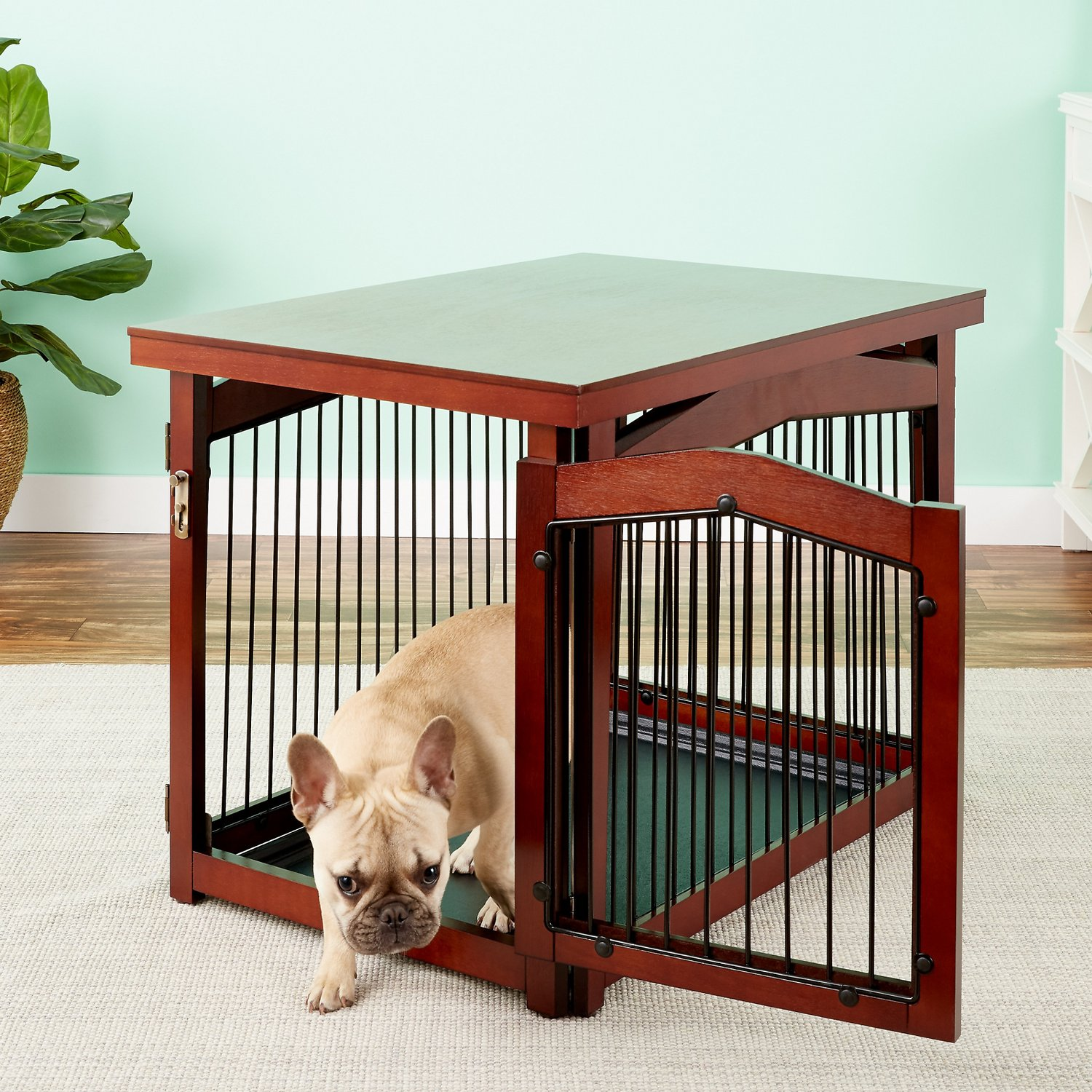 A Furniture: Merry Products 2-in-1 Configurable Dog & Cat Crate & Gate