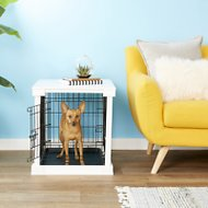 Merry Products End Table Covered Decorative Dog & Cat Crate, Small