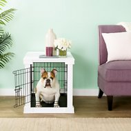 Merry Products End Table Covered Decorative Dog & Cat Crate, Medium