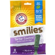 Arm & Hammer Dental Brush Dog Chews, Mint Flavor, 6.5-oz bag