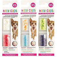 Kitty Caps Cat Nail Caps, Color Varies, 40-count, X-Small