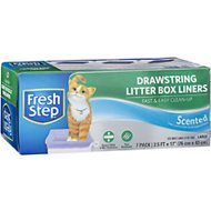 Fresh Step Drawstring Litter Box Liner, 7 count, Large, Scented