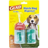 Glad Waste Bag Dispenser with bags, 1 dispenser, 30 bags, Scented