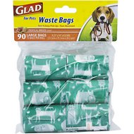 Glad Disposable Waste Bags, 90 count, Scented