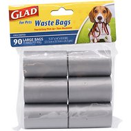 Glad For Pets Waste Bags Refill Pack, 90 count, Unscented