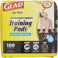 "Glad For Pets Activated Carbon Dog Training Pads, 23"" x 23"", 100 count"