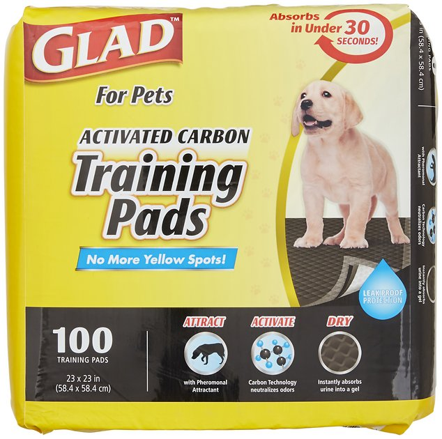 Glad Activated Carbon Training Pads 100 Count Chewy