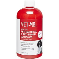 VetMD Medicated Anti-Bacterial & Anti-Fungal Dog Conditioner, 17-oz bottle