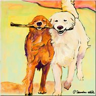 "Trademark Fine Art ""Stick with Me"" by Pat Saunders Canvas Wall Art, 24 x 24 inches"