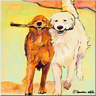 "Trademark Fine Art ""Stick with Me"" by Pat Saunders Canvas Wall Art, 35 x 35 inches"