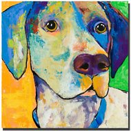 "Trademark Fine Art ""Yancy"" by Pat Saunders Canvas Wall Art, 24 x 24 inches"