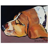 "Trademark Fine Art ""Farley"" by Pat Saunders Canvas Wall Art, 18 x 24 inches"