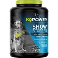 K9 POWER Show Stopper Healthy Coat & Skin Dog Supplement, 1-lb jar