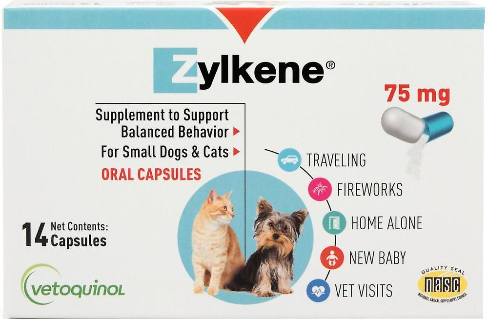 Vetoquinol Zylkene Behavior Support Capsules Small Dog   Cat Supplement ec1f28443