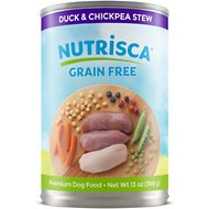 Nutrisca Grain-Free Duck & Chickpea Stew Recipe Canned Dog Food, 13-oz, case of 12