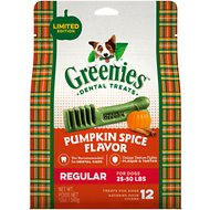 Greenies Pumpkin Spice Flavor Regular Dental Dog Treats, 12-oz bag