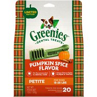 Greenies Pumpkin Spice Flavor Dental Dog Treats, Petite, 20 count